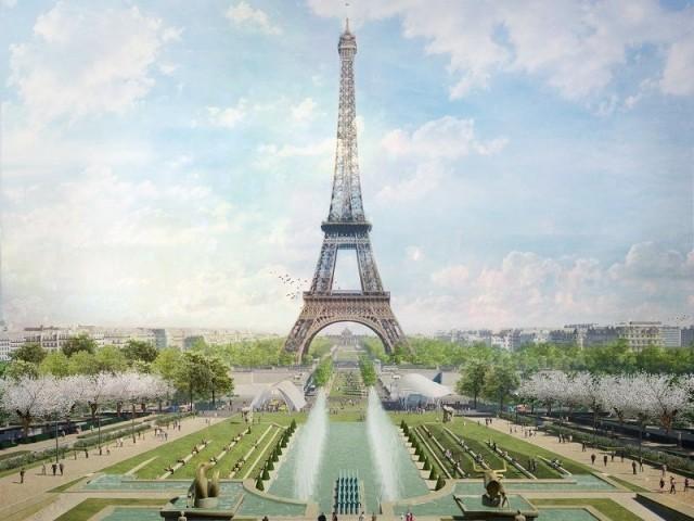 Site Tour Eiffel Fontaine du Trocadéro