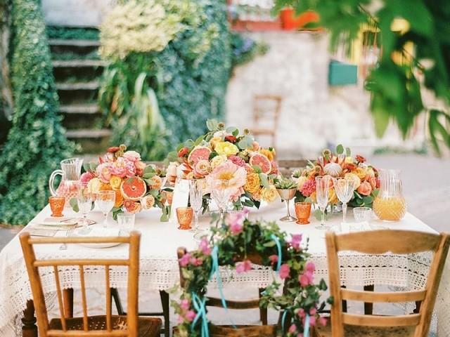 Vaisselle vintage et table Rosa Event Design