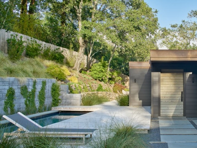 Une piscine et un jardin repensé en lien avec la nature