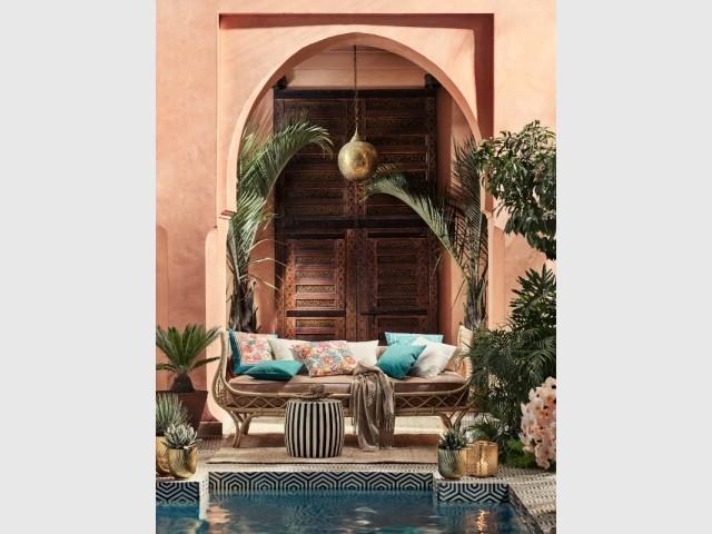 Une terrasse comme dans un riad de Marrakech