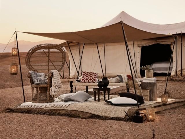 Une terrasse inspirée du désert du Sahara