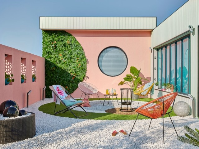 Une terrasse façon Miami, Floride