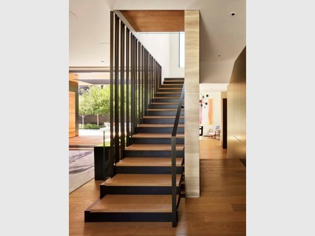 Un escalier comme un puits de lumière