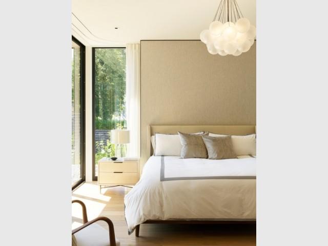 Des chambres discrètes et lumineuses