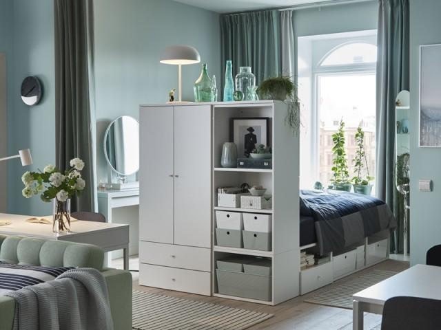 Cadre de lit avec rangements Plasta, Ikea, prix : 520 €