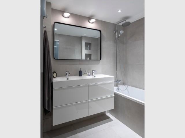 Une salle de bains rajeunie