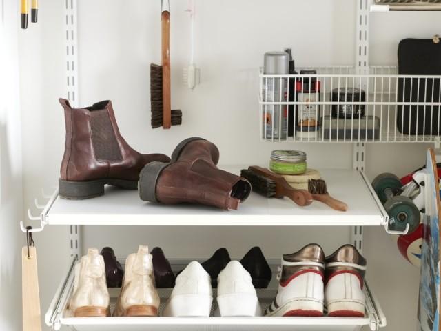 Ranger ses chaussures dans un dressing
