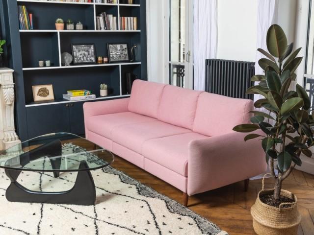 Canapé modèle Leptitcanap coloris rose, à partir de 645 €