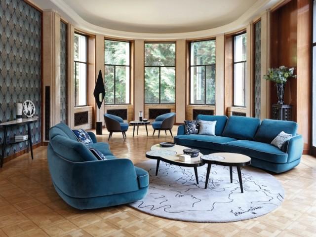 Canapé 4 places Parenthèse, design Sacha Lakic