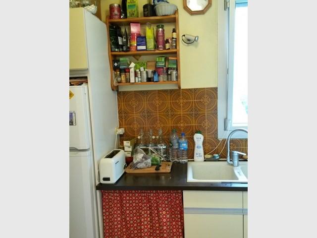 Avant : une cuisine vieillotte et peu fonctionnelle