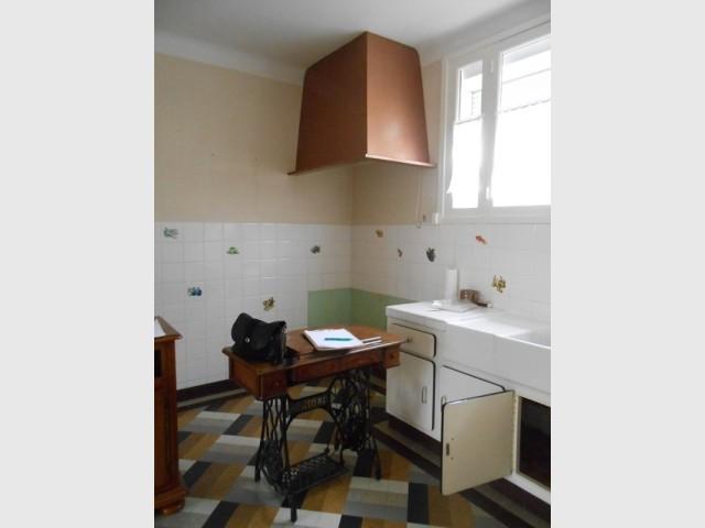Avant : une cuisine démodée et peu fonctionnelle