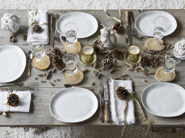 Une table de fêtes à l'esprit nature