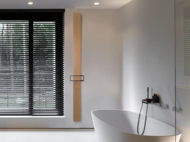 Radiateur sèche-serviettes Bryce Mono, coloris blanc fine texture, puissance 696 W, prix public : 660 € TTC