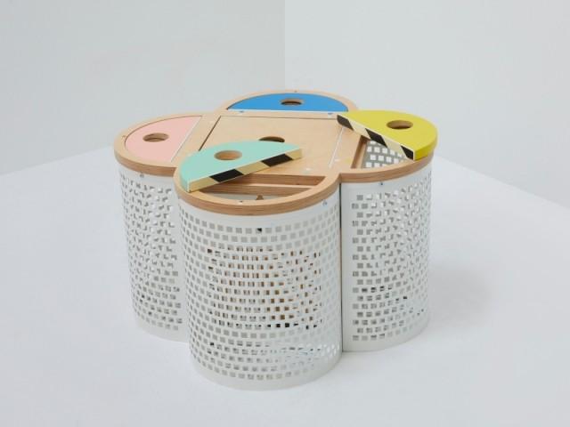 Coffre de rangement pour enfants Trèfle Express, par Rémi Perret, mise à prix : 150 €