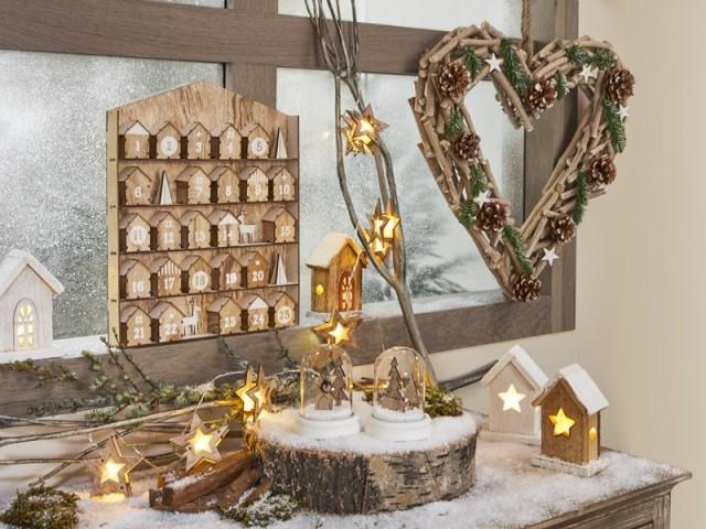 Une couronne de Noël en forme de cœur