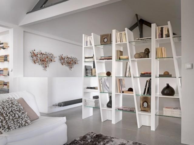 Une bibliothèque pour rendre le salon plus intime