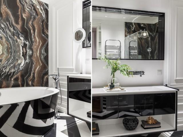 Une salle de bains au luxe assumé