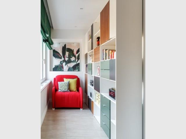 Un petit coin bibliothèque très cosy