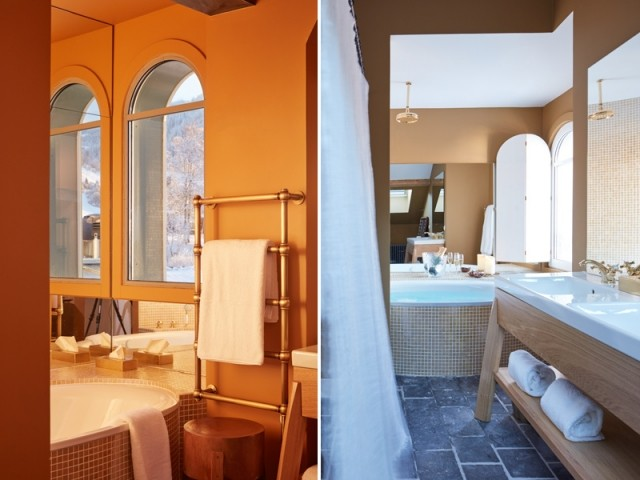 Luxe et authenticité dans les salles de bains