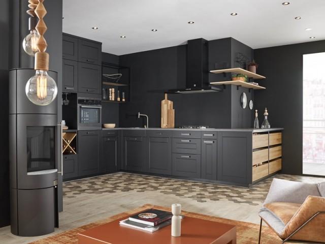 Cuisine noire Ambiance comptoir, Mobalpa, prix : à partir de 9.163 €