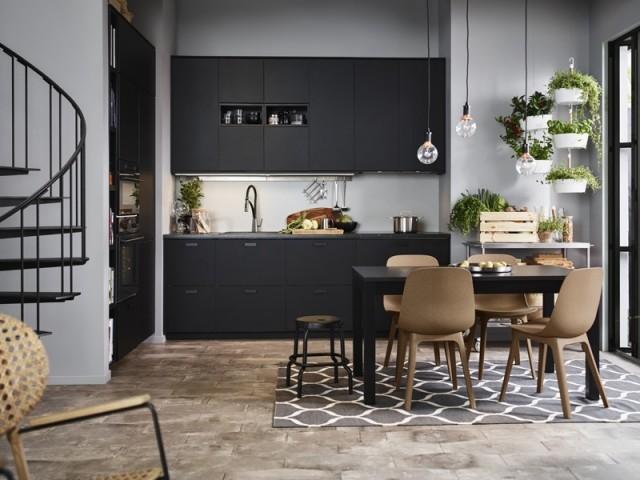 Cuisine noire Kungsbacka, Ikea, prix : à partir de 459 €