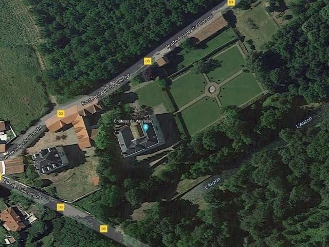 Vue satellite du Château de Varvasse