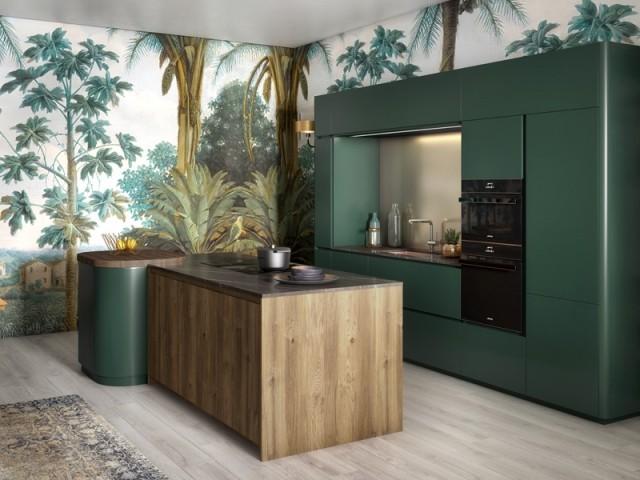 Un papier peint panoramique dans la cuisine