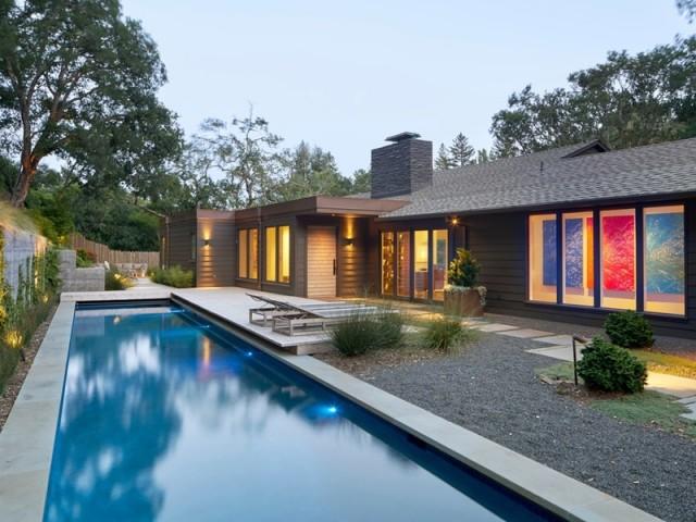 Un vieux ranch californien transformé en villa arty