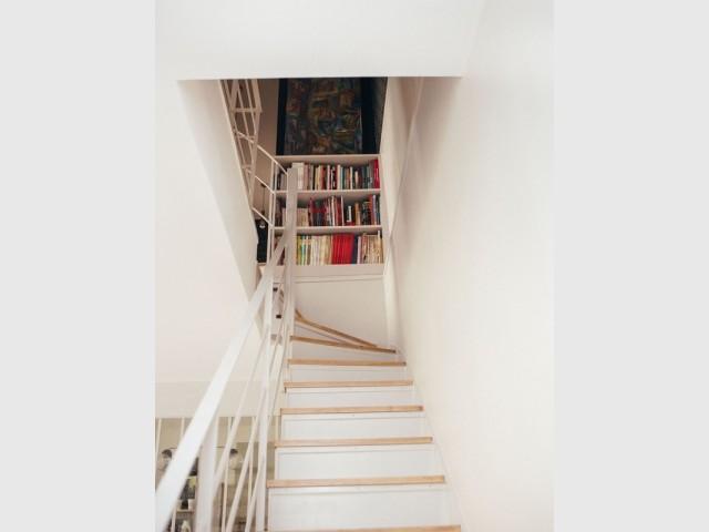 Une montée d'escalier plus chaleureuse