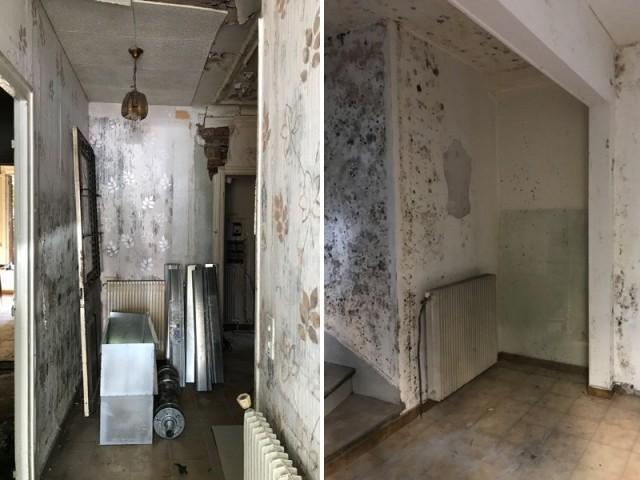 Avant : un intérieur en mauvais état