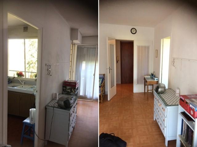 Avant : un appartement vétuste et mal agencé