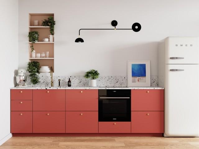 Une cuisine en I aux détails soignés