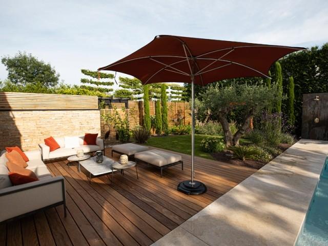 Une terrasse en bois exotique
