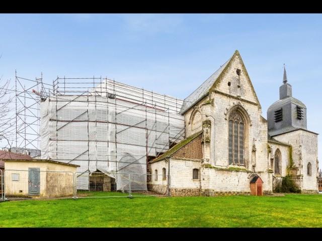 Somme, Eglise Saint-Pierre à Dompierre-sur-Authie
