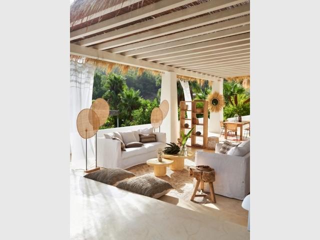 Une terrasse inspirée de l'Indonésie