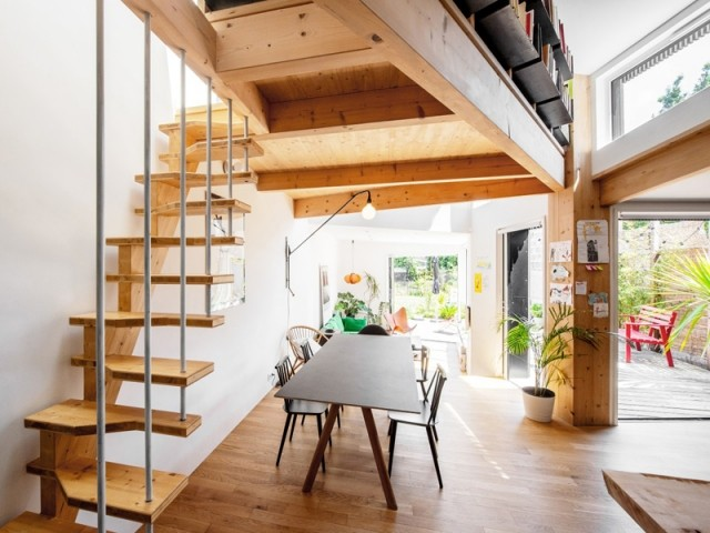 Un escalier à pas japonais