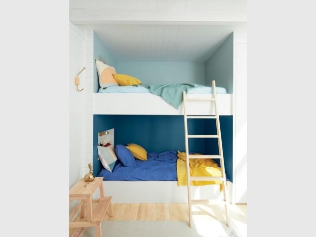 Des lits superposés façon cabine de bateau