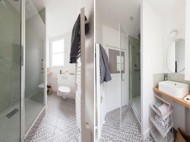 Après : une petite salle de bains ultra confortable