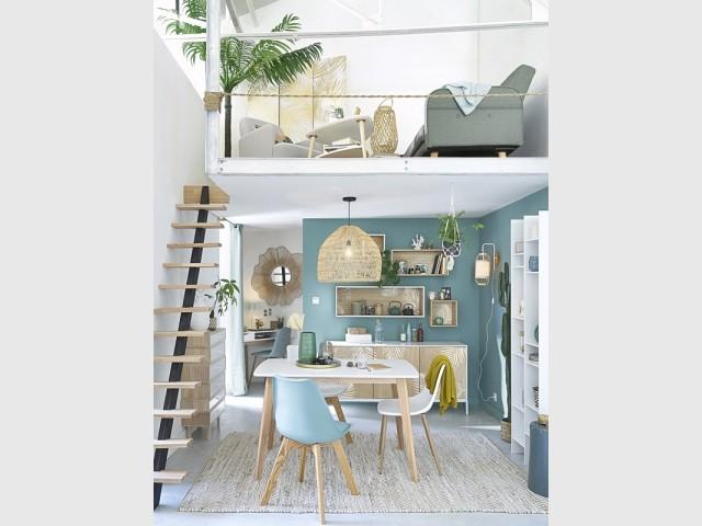 Aménager un salon en mezzanine