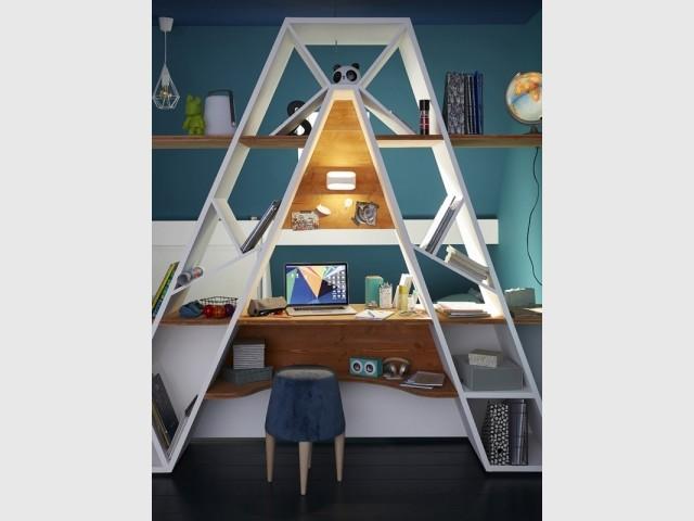 Une étagère bureau à personnaliser