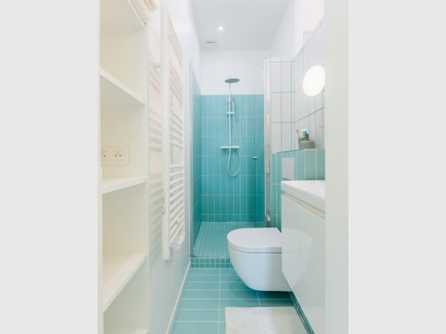 Une petite salle de bains aux détails soignés