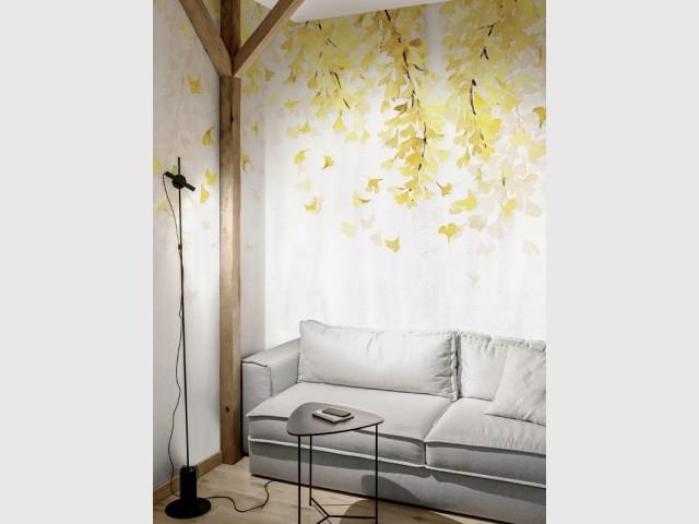 Yellow Ginkgo, Wallpepper, prix : 89 € le m2