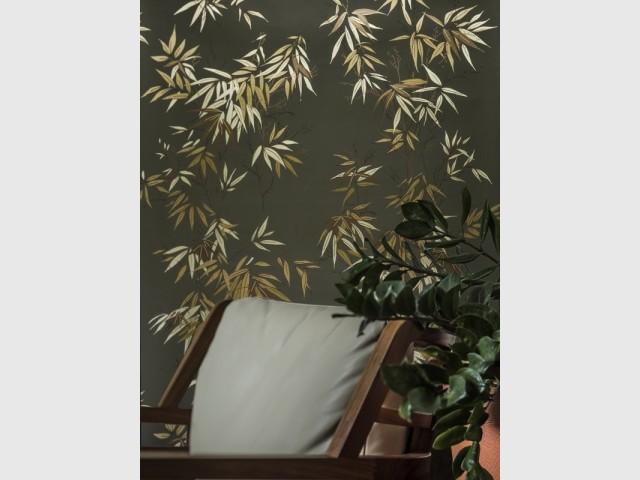 Papier peint Bambous vert doré, Isidore Leroy, prix : 189 €