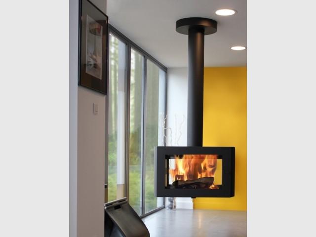 Un poêle inspiré d'une cheminée