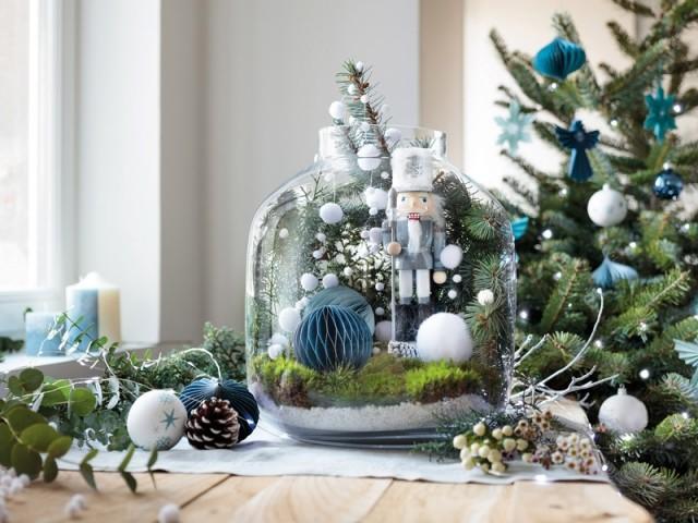 Un terrarium aux couleurs de Noël