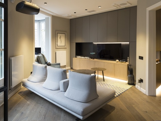 Un espace salon contemporain