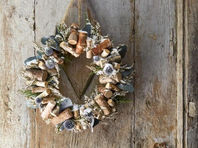 Une couronne de Noël très nature