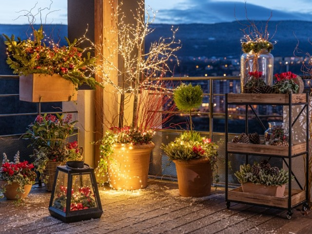 Illuminer son balcon pour Noël