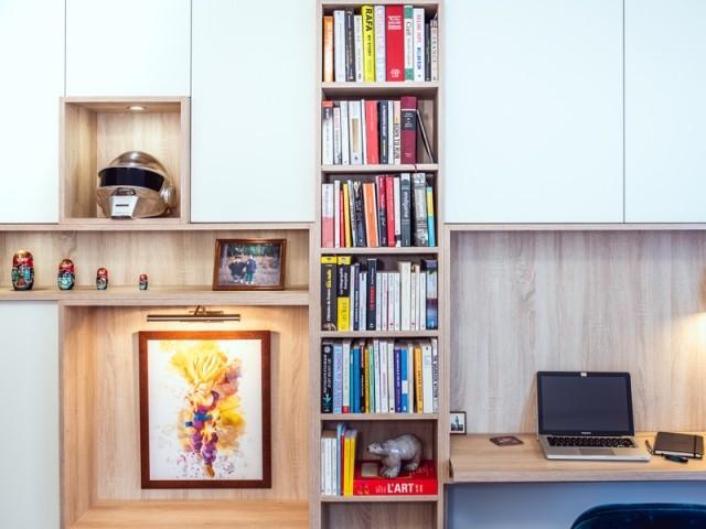 Un meuble entièrement réalisé sur-mesure