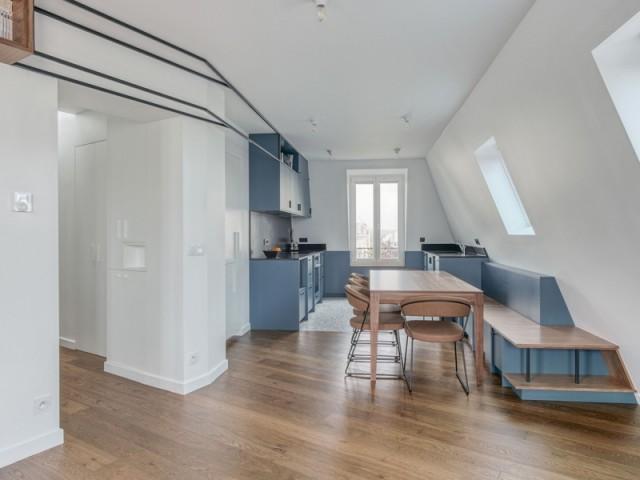 L'ancienne chambre transformée en cuisine